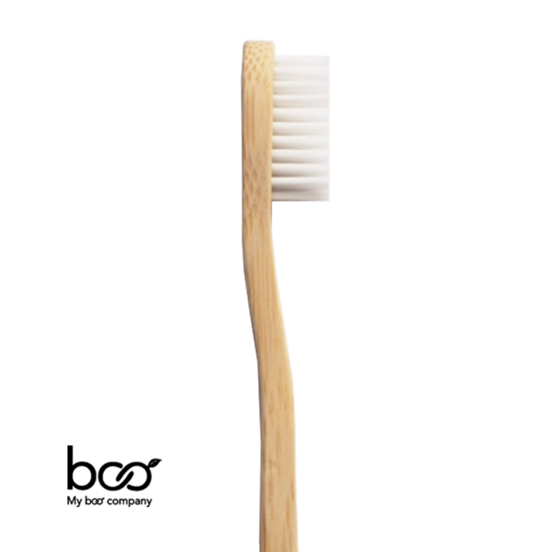 My Boo Company - Brosse à Dents recyclable en Bambou - Adulte (souple) blanc rose bleu compostable