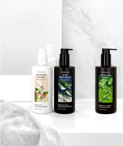 Madara cosmétique végétale Gel Douche bio hydratant savon naturel green végétal peau sensible aloe vera flacon pompe grand maxi