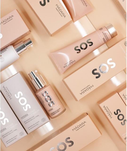 MADARA cosmétique bio  Soin visage naturel hydratation intense peau stressée terne déshydratée sèche crème sérum masque