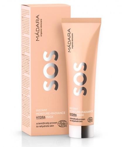 MADARA cosmétique bio Masque visage hydratant SOS peau déshydratée stressée terne