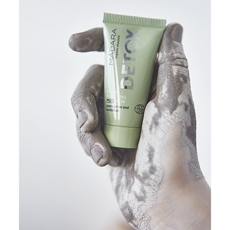 Madara cosmétique naturelle Masque visage végétal Detox pour peau grasse et acnéique