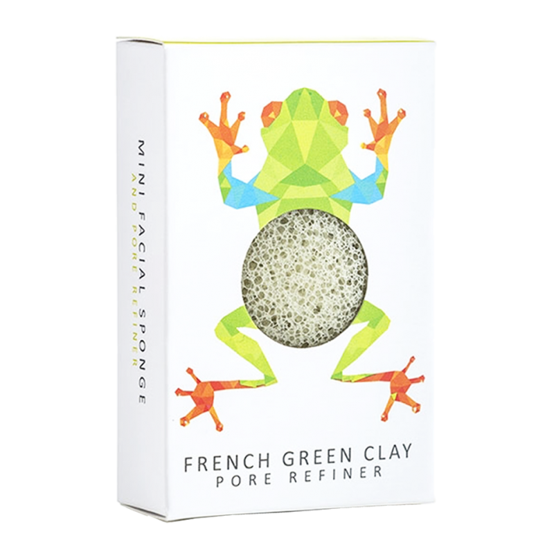 Konjac Sponge Co. Mini Konjac Face Sponge Puff with French Green Clay