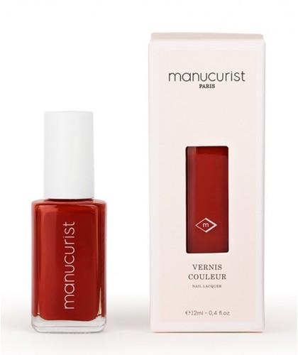 MANUCURIST Paris spécialiste Beauté des Ongles  Vernis UV Rouge No 5 longue tenue brillance miroir