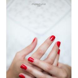 MANUCURIST Vernis UV Rouge Greandine No 1 brillance miroir swatch vegan non toxique