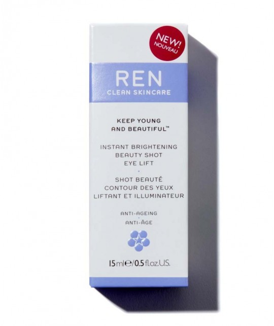 REN Keep Young And Beautiful Instant Brightening Beauty Shot Eye Lift clean skincare