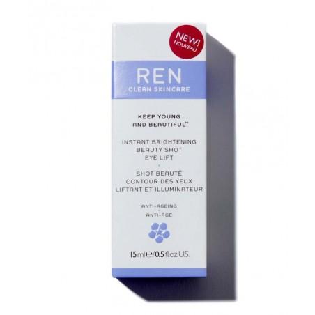 REN Skincare Shot Beauté Contour des Yeux lisser illuminer express instantanément naturel végétal cosmétique visage