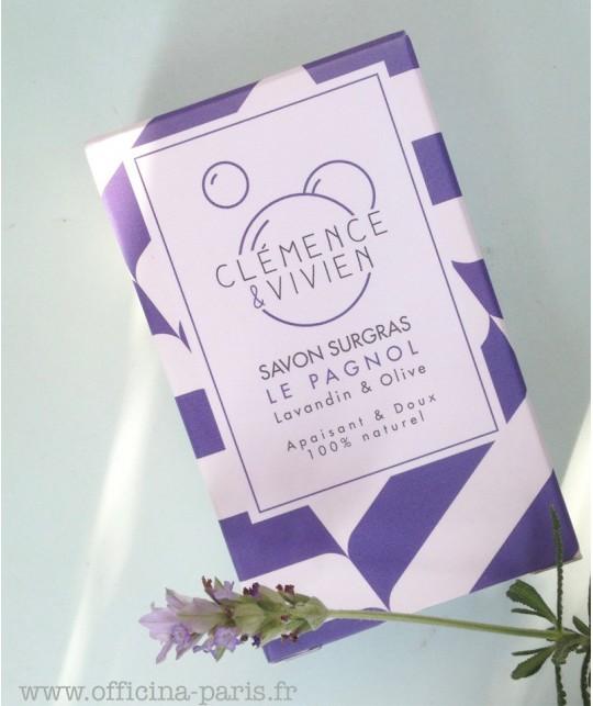 Clémence & Vivien - handgefertigte rückfettende Seife Bio Lavendel Naturseife Le Pagnol  vegan