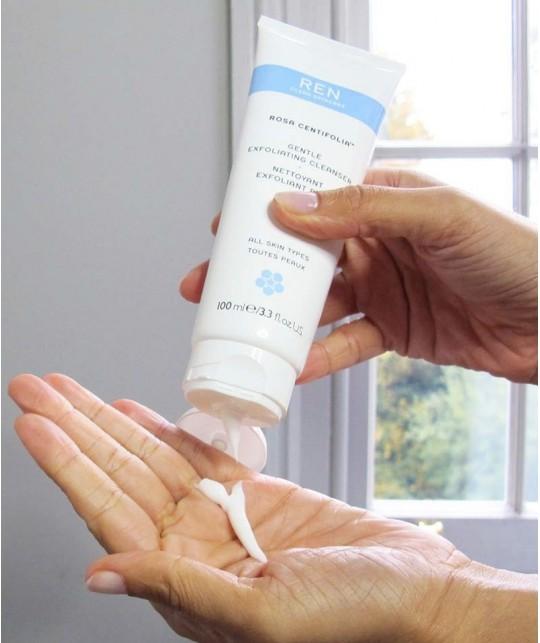 REN cosmétique naturel Nettoyant visage exfoliant doux végétal jojoba peau sensible