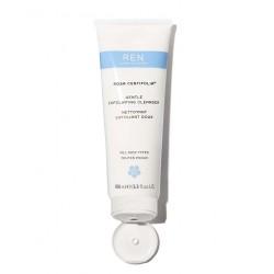 REN clean skincare Rosa Centifolia Nettoyant visage gommage doux végétal jojoba peau sensible