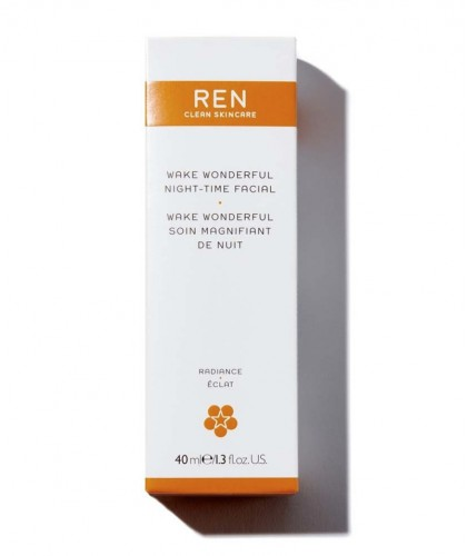 REN soin visage nuit Wake Wonderful booster éclat teint
