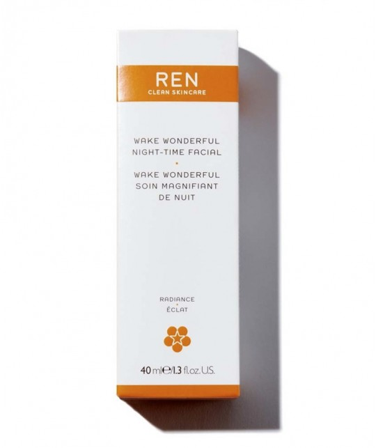 REN Wake Wonderful Night-Time Facial clean skincare vegan
