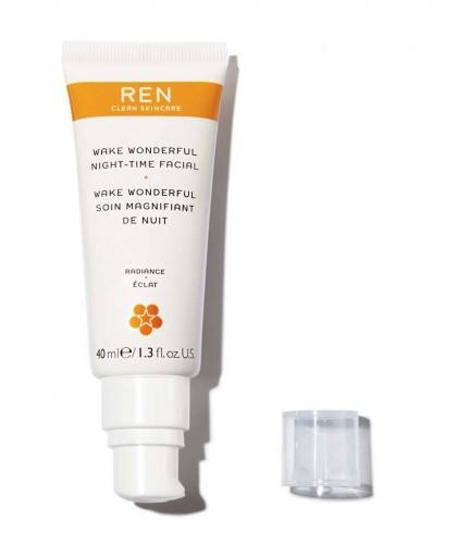 REN clean skincare - Wake Wonderful crème visage de nuit acides de fruits éclat teint terne