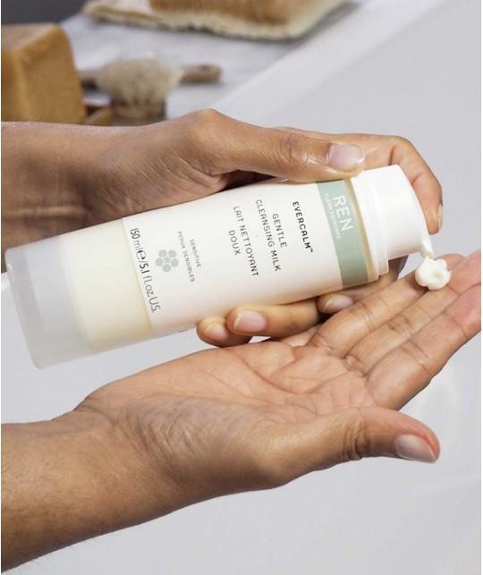 REN skincare EverCalm Gentle Cleansing Milk clean cosmetics