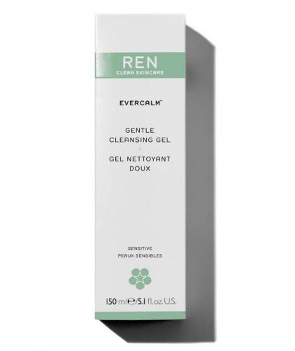 REN végétal EverCalm Gel Nettoyant Doux flacon pompe peau irritée teint visage