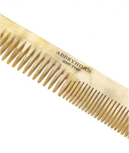 ABBEYHORN Frisier Hornkamm, breite und enge Zahnung (16 cm)