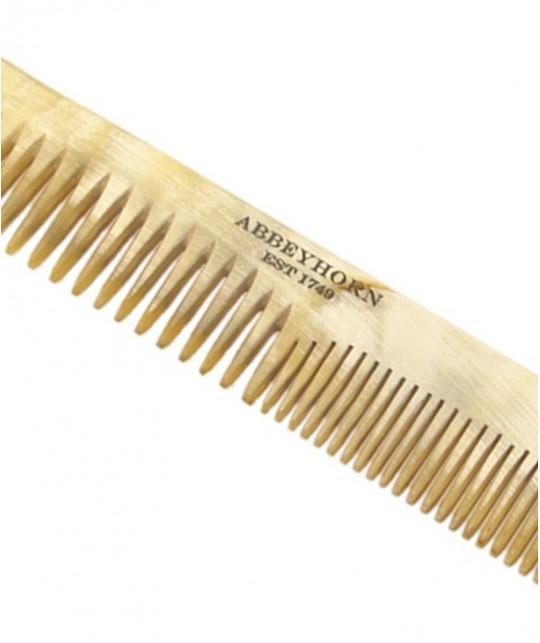 Peigne en corne Abbeyhorn homme femme cheveux fait main poli main en Angleterre