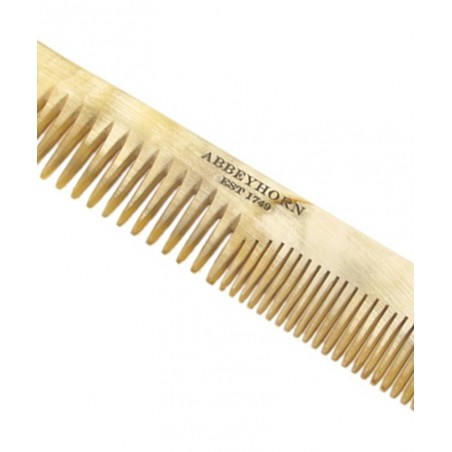 Abbeyhorn - Peigne en corne véritable homme femme cheveux fait main poli main en Angleterre