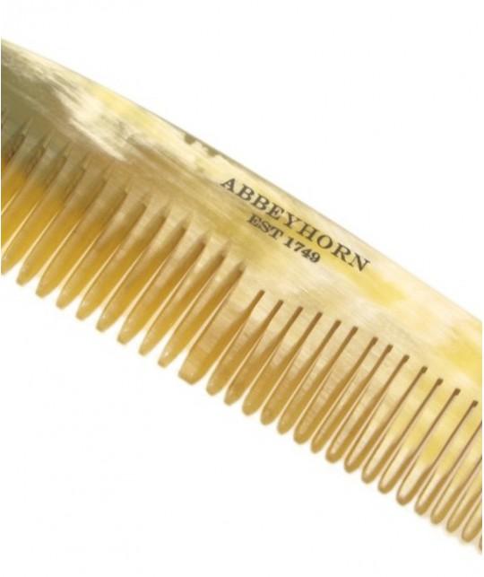 Peigne en corne Abbeyhorn Petit cheveux barbe fait main poli main manufacture Abbeyhorn objet unique