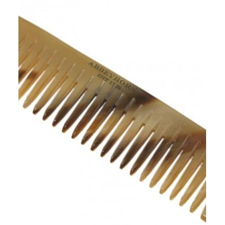 Abbeyhorn Petit Peigne en corne véritable cuir chevelu sensible fait main poli main Angleterre objet unique luxe