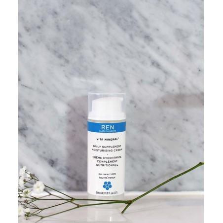 REN Skincare - Vita Mineral™ Crème Hydratante Complément Nutritionnel soin visage naturel végétal