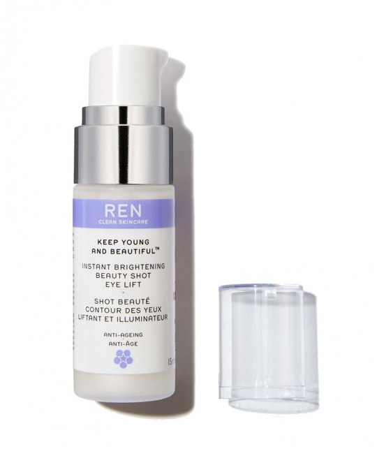 REN Keep Young And Beautiful Instant Brightening Beauty Shot Eye Lift Straffendes Augenserum  clean skincare vegan
