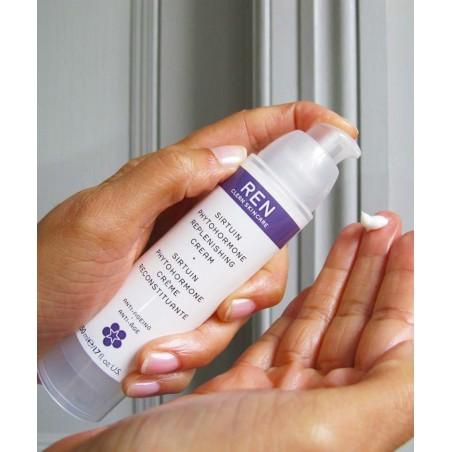 REN soin visage naturel végétal Crème jour nuit Reconstituante peau mature anti-âge anti-rides bio végétal flacon pompe