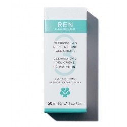 REN soin visage naturel peau acnéique ClearCalm crème gel végétal cosmétique bio