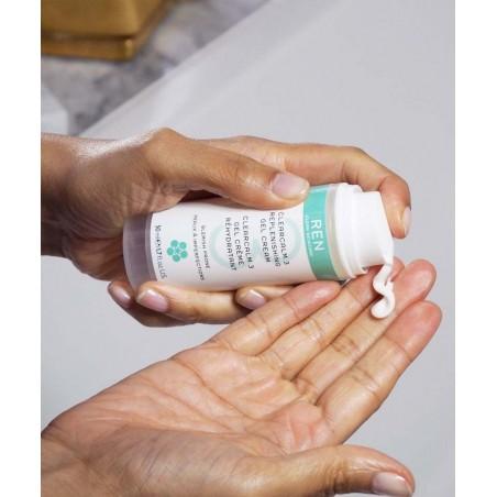 REN Skincare ClearCalm Gel Crème Rehydrîatant peau grasse impure imperfections acné soin végétal