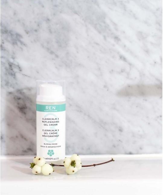 REN ClearCalm Gel Crème de jour peau impure imperfections grasse acné
