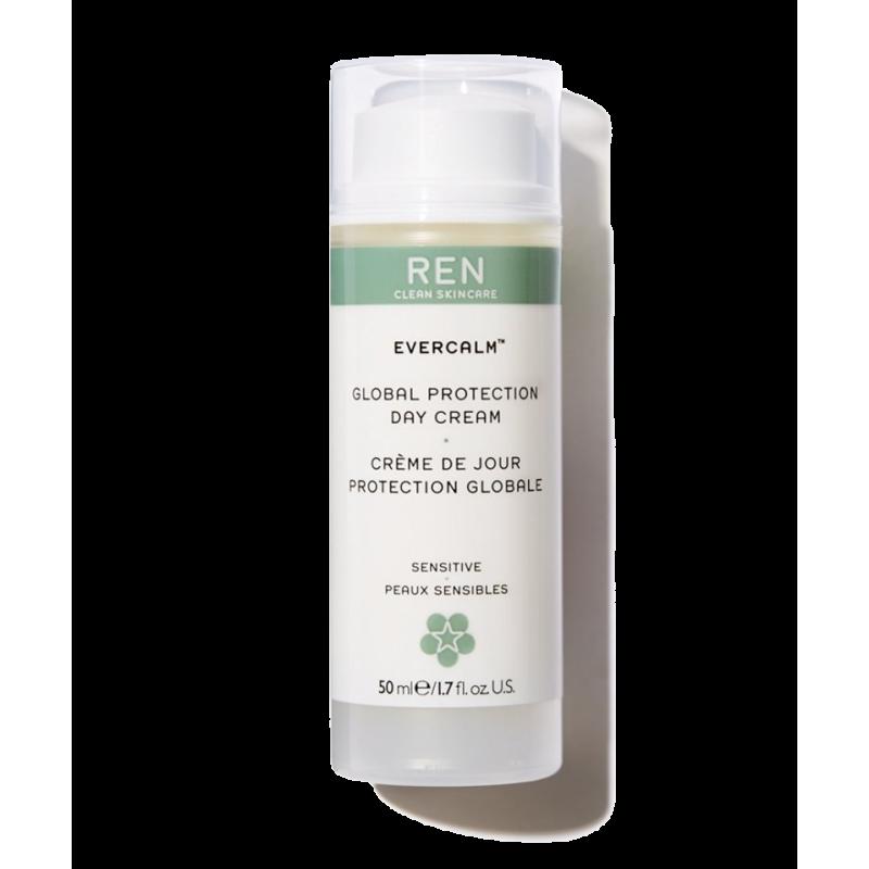 REN Skincare - EverCalm Crème de Jour Protection Globale peau sensible flacon pompe