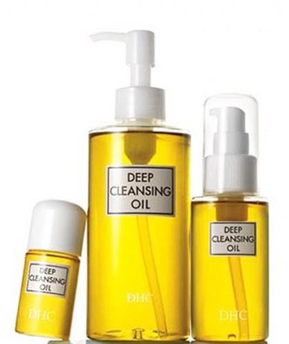 Huile Démaquillante DHC yeux visage Deep Cleansing Oil flacons taille naturel  peau sensible