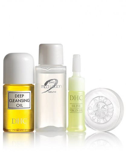 DHC Trousse Voyage Sube Sube soin visage rituel beauté japonais peau douce purifier hydrater protéger démaquillant lotion