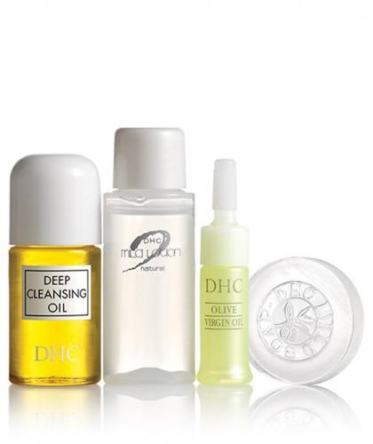 DHC skincare Travel Set Sube Sube Olive Essentials Hautpflege Reiseset