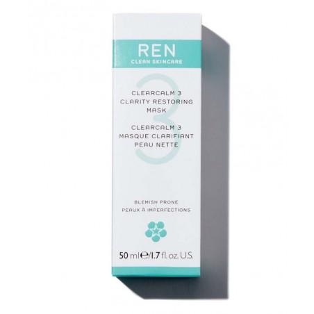 REN soin visage naturel Masque  clarifiant Peau Nette imperfections acné végétal cosmétique teint bio naturel purifier