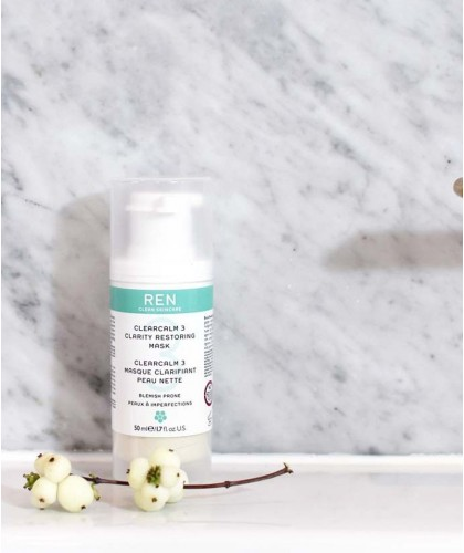 REN ClearCalm 3 Masque Clarifiant Peau Nette clean skincare -