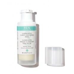 REN ClearCalm Masque Clarifiant Peau Nette acné boutons flacon pompe végétal naturel