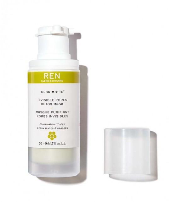 REN Clarimatte Masque Purifiant Pores Invisibles cosmétique naturel - beauté teint peau grain pores imperfections flacon pompe