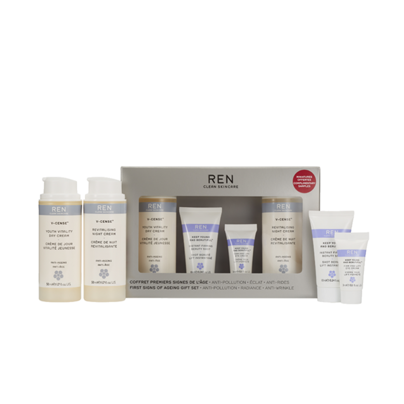 "REN Gift Set ""First Signs of Aging"" clean skincare"