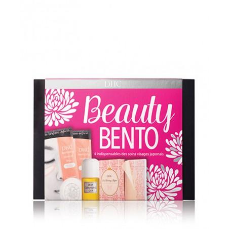 DHC Beauty Bento Skincare coffret beauté naturelle rituel japonais nettoyer, ratifier, patch yeux peau sensible offrir cadeau