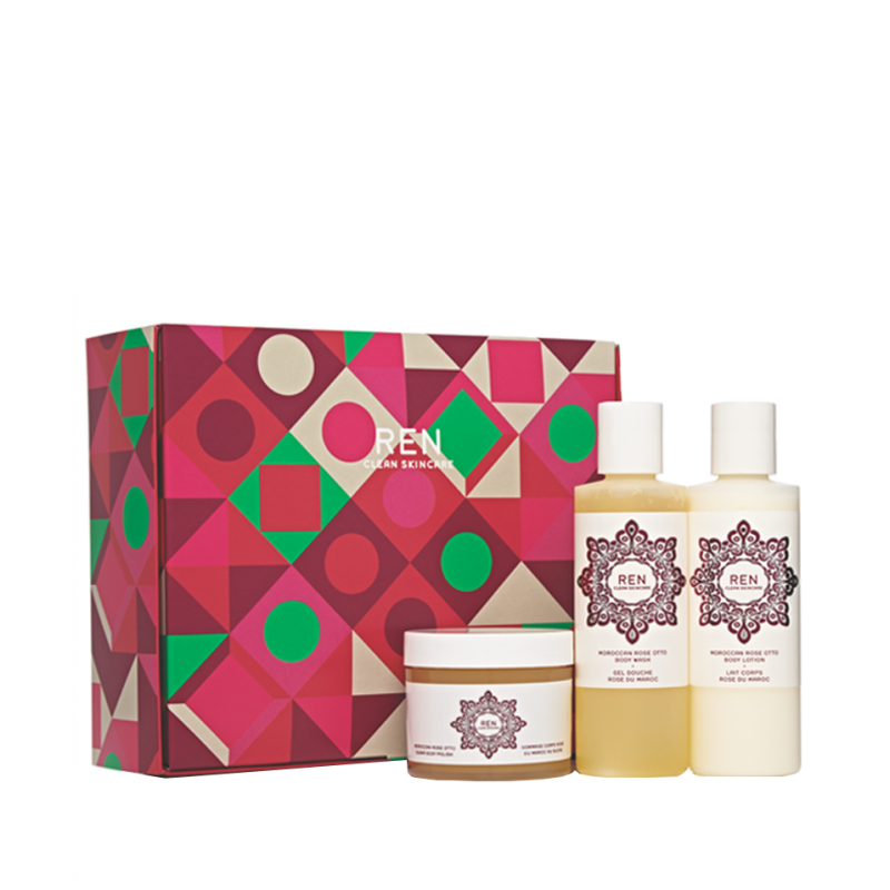 REN clean skincare Moroccan Rose Trio Gift Set