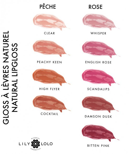 Lily Lolo mineral cosmetics Natural Lip Gloss Clear swatch