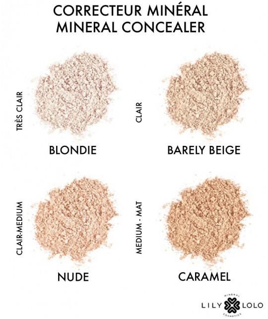 Lily Lolo maquillage Correcteur Teint Minéral swatch couleurs teintes choix peau sensible naturel green vegan bio cosmétique
