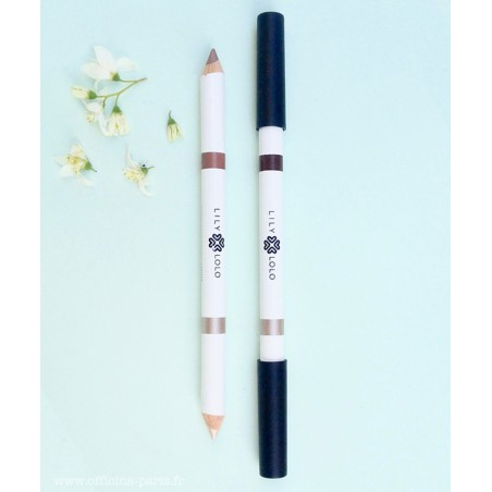 Maquillage Lily Lolo Crayon Duo Sourcils Naturel Green