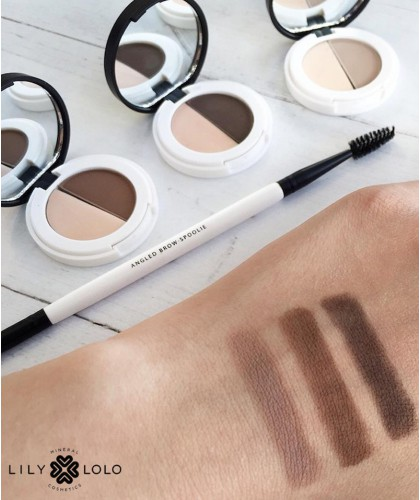 Lily Lolo - Eyebrow Duo - swatch mineral cosmetics natural beauty swatch