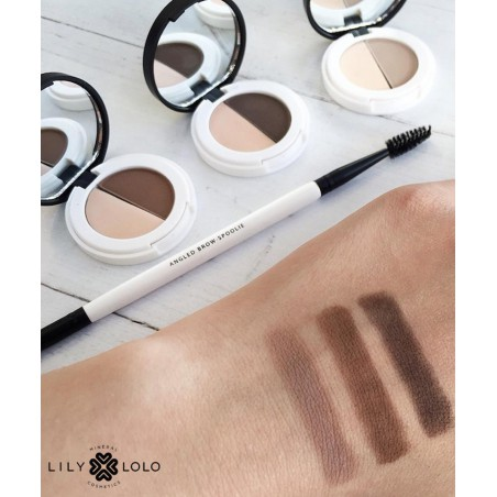 Lily Lolo - Eyebrow Duo - dark. mineral cosmetics natural beauty swatch