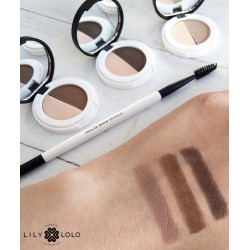 Lily Lolo maquillage minéral Duo Fard à sourcils naturel swatch teintes