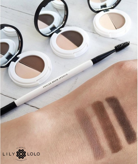 Lily Lolo - Eyebrow Duo - medium. mineral cosmetics swatch