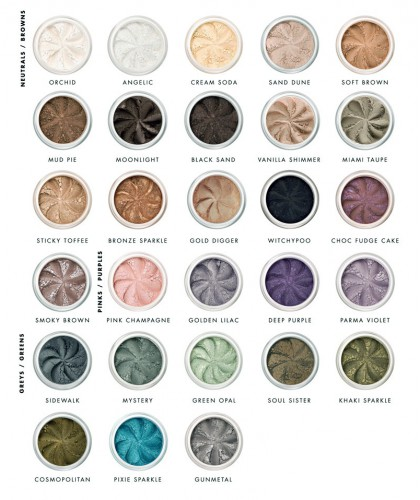 Lily Lolo mineral eye shadows natural beauty green colors clean cosmetics