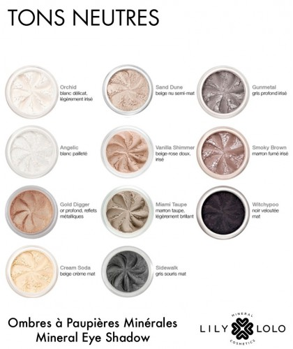 Lily Lolo - Mineral Eye Shadow Sidewalk matte grey cosmetics natural beauty