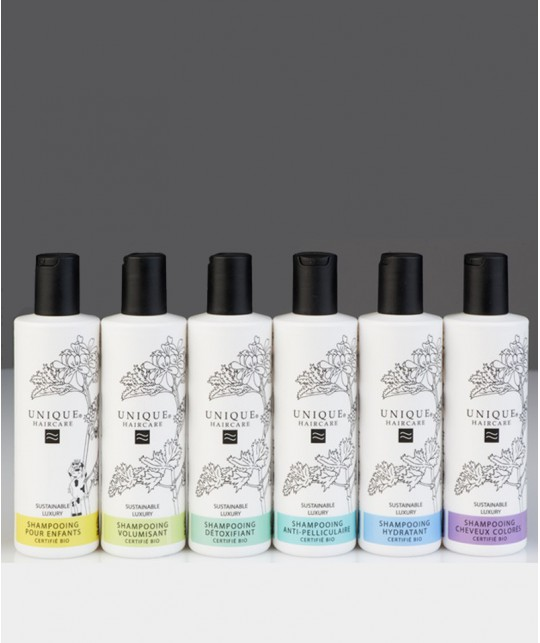 Unique Haircare - Shampooing bio cheveux colorés 100% naturel sans silicone